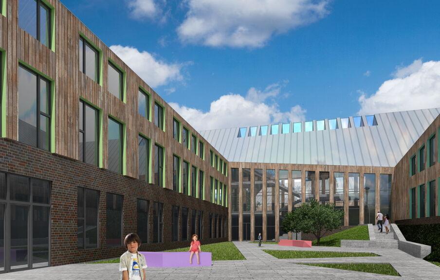 Проект внутреннего двора школы