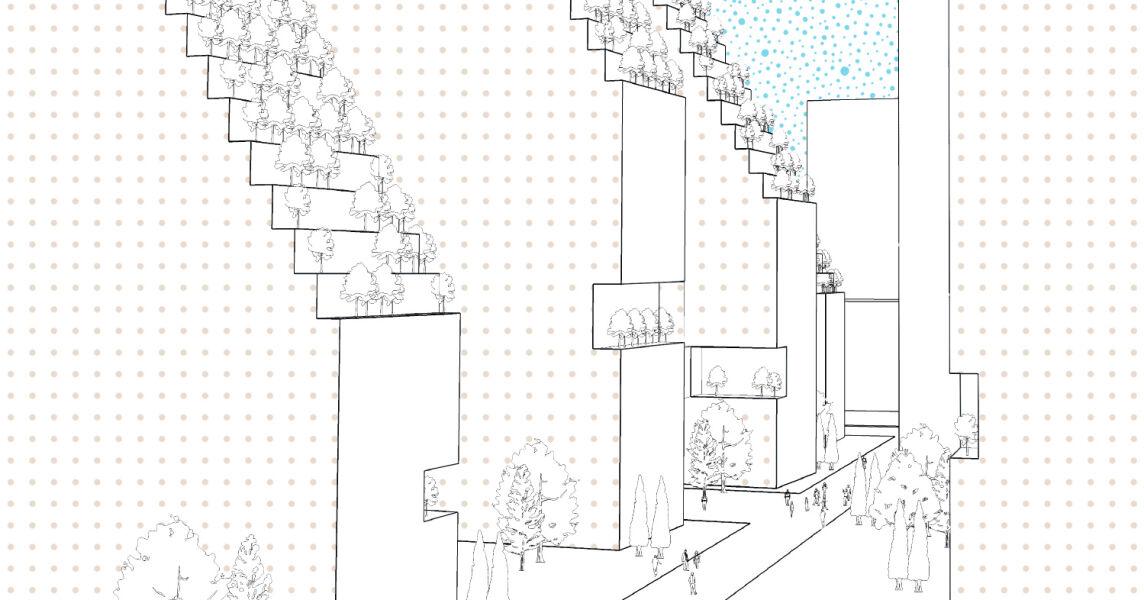 Концептуальная идея застройки для жилого комплекса в Праге