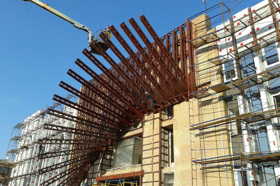 Реконструкция здания в ДП КСКЦ Концерн Стирол в г. Горловке от строительной группы МОДУС