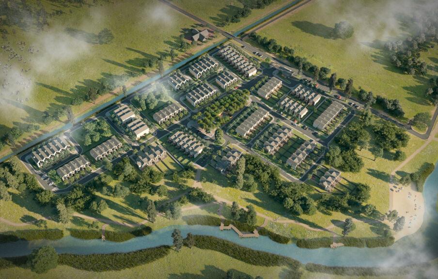 Генеральный план застройки коттеджного городка