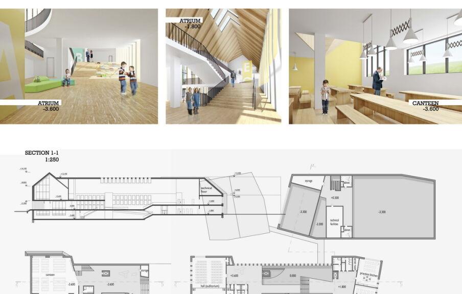 Схема здания новой школы