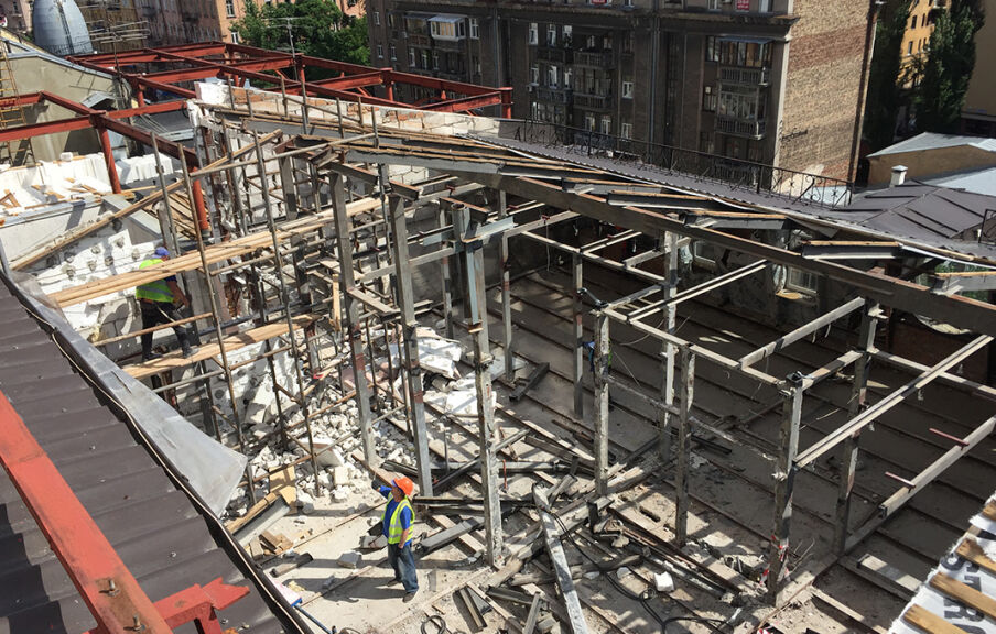 Демонтаж двух этажей