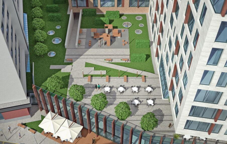 Концепция территории гостиничного комплекса