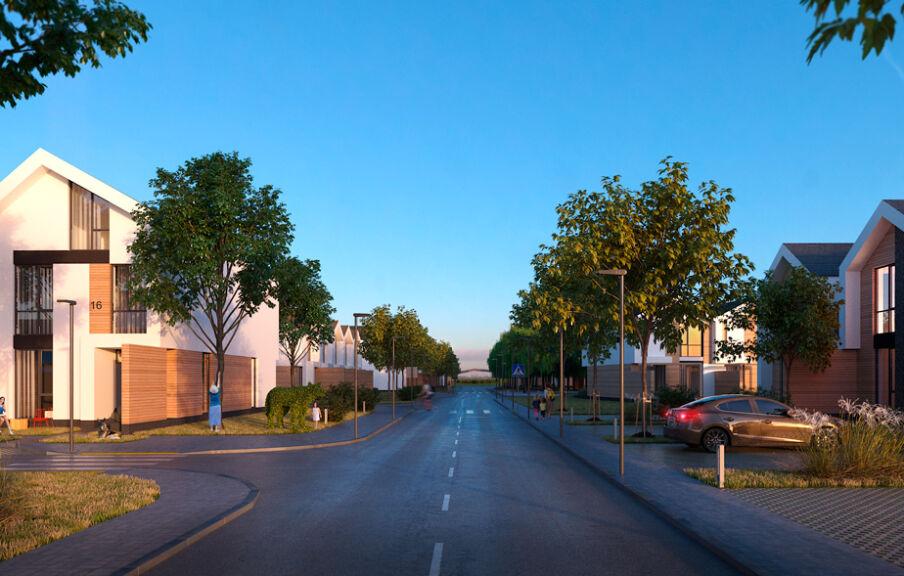 Проект территории коттеджного городка