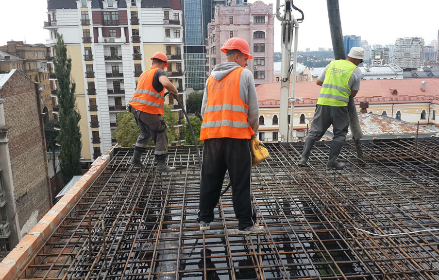 Строительство здания гостиничного комплекса