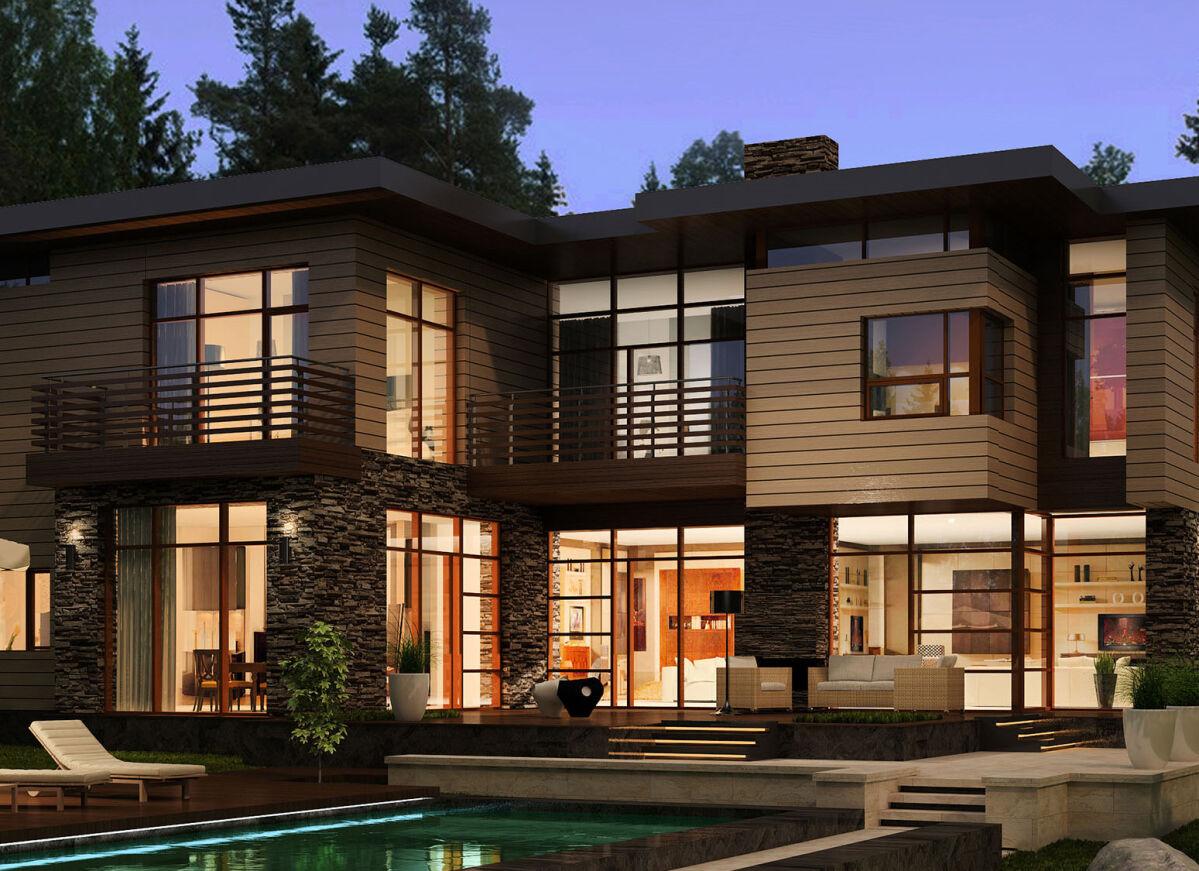 Проектирование загородного жилого дома с бассейном