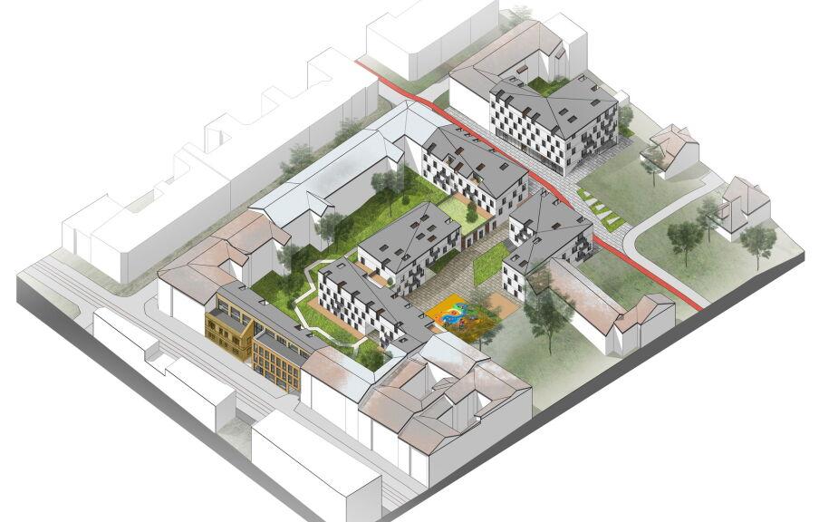 Схема размещения зданий