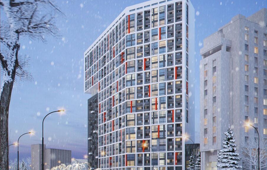 3d визуализация жилого квартала в Киеве