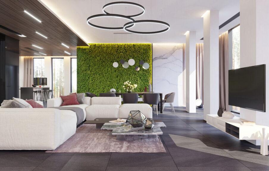 Дизайн интерьера частного дома в Лебедевке