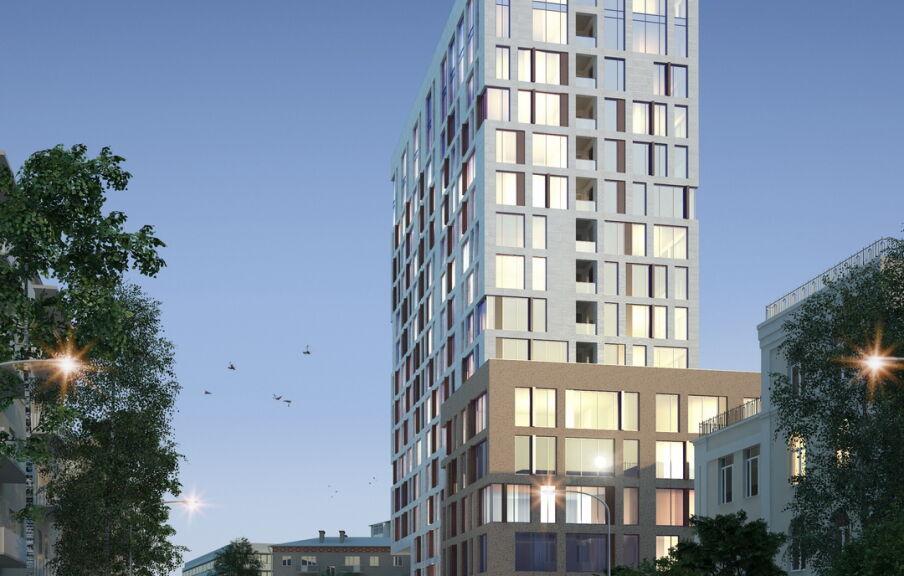 Проект фасада здания гостиницы