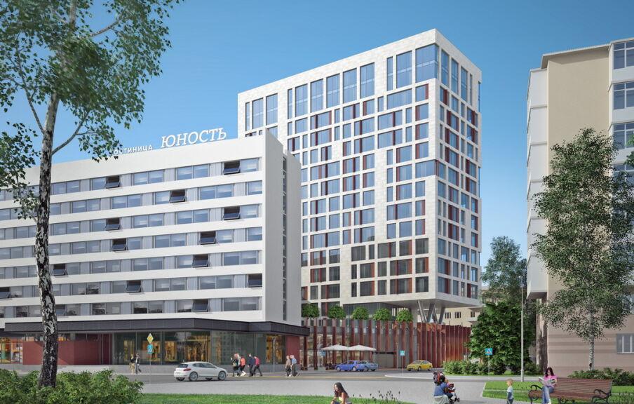 Гостиница Юность - концепция здания