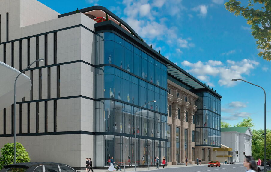 Редизайн фасада здания