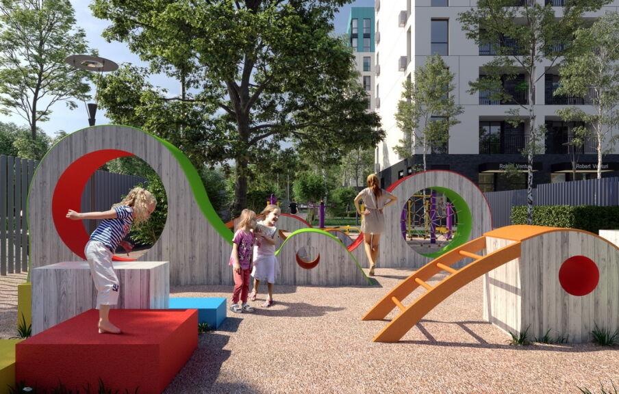 Проект детской площадки в ЖК